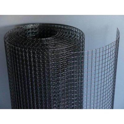 Sort pulver lakeret Voliere net 19x19x1,45mm | Randers volieren