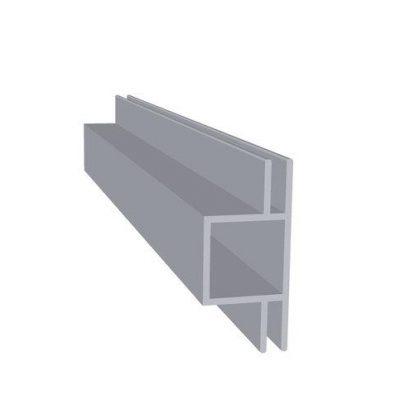 Aluminiums profil 4mm sideflange Randers Volieren