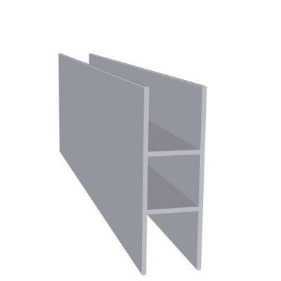 Aluminiums profil sideflange Dobbelt Randers Volieren
