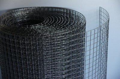 Sort pulver lakeret Voliere net12,7x12,7x1,05 Randers volieren