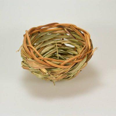 Kanarie rede i græs flet | Randers volieren
