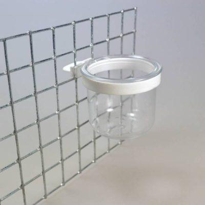 Plastskål til opsætning i net m/ring | Randers volieren
