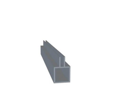 Aluminiumsprofil med 3mm midterflage   Randers volieren