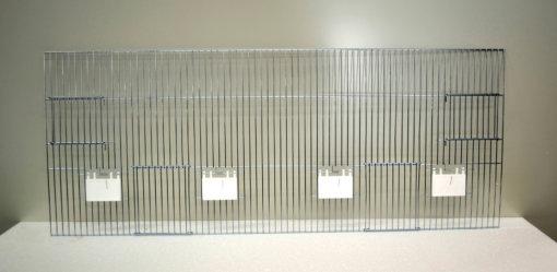 Forsidegitter 40 x 100 udvendig og fodring og redekasse | Randers Volieren