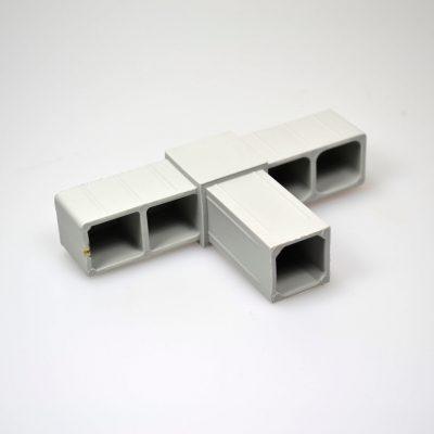 T- stykke 25 mm grå | Randers volieren