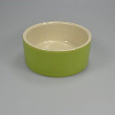 Foderskål keramik 175 ml Grøn   Randers volieren