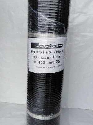 Sort voliere net 12,7x12,7x1,3mm | Randers volieren