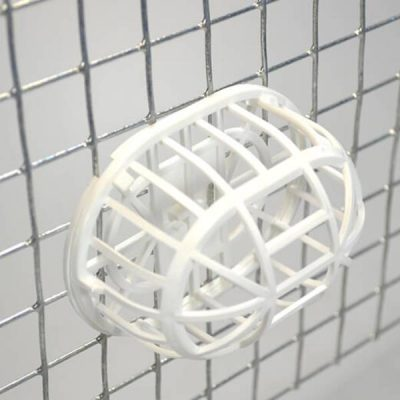 Rede materiale holder Hvid   Randers volieren