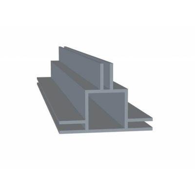 Aluminiumsprofil med 3 x 3 mm flange   Randers volieren