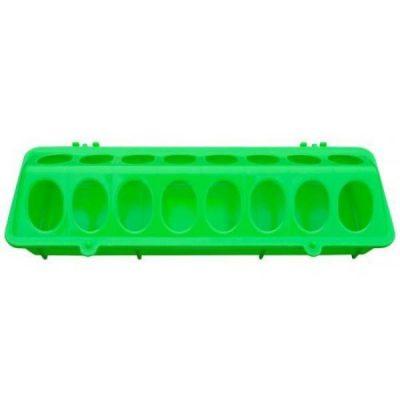 Fodertrug plast grøn 10 X 30 cm | Randers volieren
