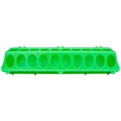Fodertrug plast grøn 10 X 37 cm | Randers volieren