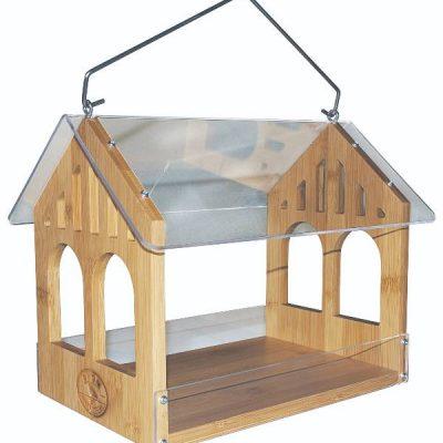 Fuglefoderautomat i Bambus   Randers volieren