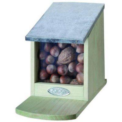 Nøddeautomat med zinktag   Randers volieren