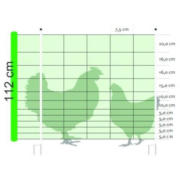 Flytbar hegn t/høns net: 1,12x50 m | Randers volieren