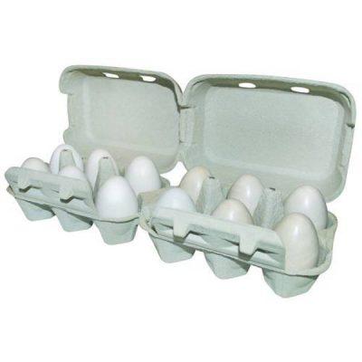 Æggebakke pap m/ låg til 2x6 æg | Randers volieren