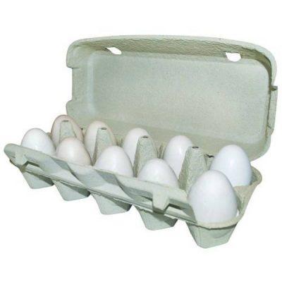 Æggebakke pap m/ låg til 10 æg | Randers volieren