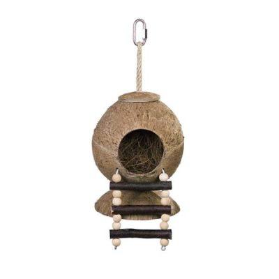 Kokosnød hus med stige | Randers volieren