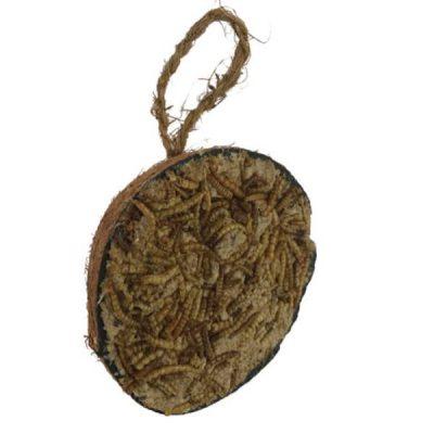 Hobby First halv kokosnød m/melorme 250g | Randers volieren