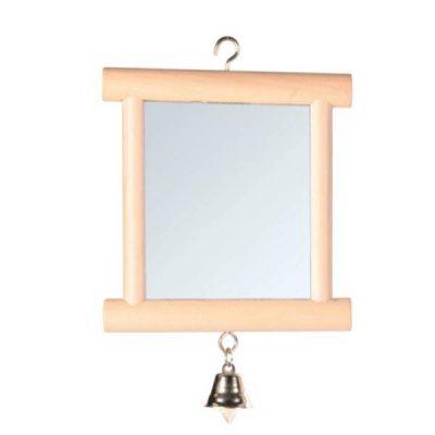 Dobbeltsidet spejl m/klokke | Randers volieren